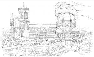 Litografia God Bless Brunelleschi – NemO's