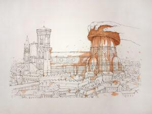 God Bless Brunelleschi- Litografia ritoccata a mano – NemO's